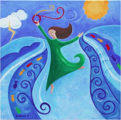 Miriam's Song, an acrylic painting by Laura Bolton