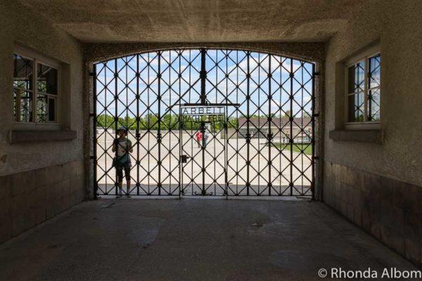 Dachau Concentration Camp entrance gate in Dachau Germany