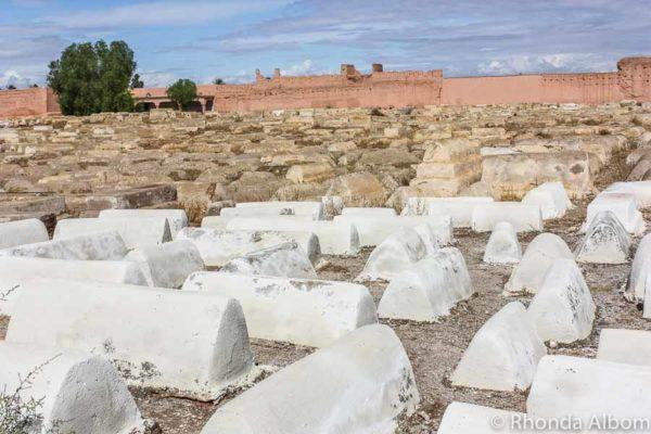 Jewish cemetery in Marrakesh Morocco