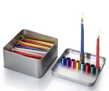 Laura Cowan Magnetic Box Travel Menorah for Hanukkah