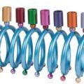 Yair Emanuel Spiral Rainbow Hanukkah Children's Menorah