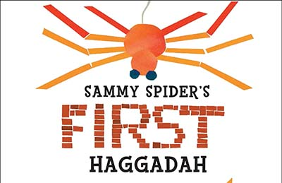 Top half of book cover from Sammy SPider's First Haggadah
