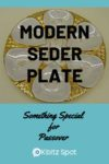 A photo of a seder plate