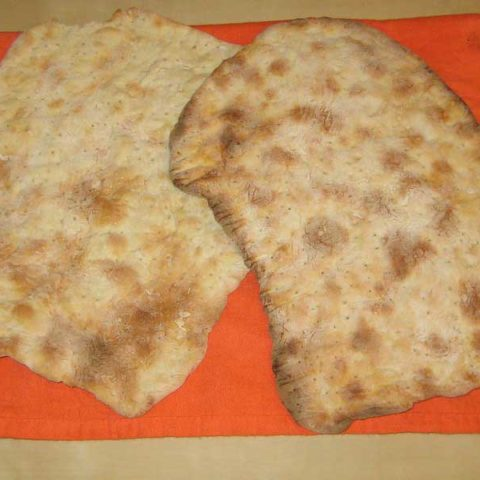 Two pieces of homemade matzo