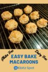 Freshly baked coconut macaroons on a cooling rack
