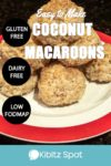 A stack of freshly made gluten free low FODMAP coconut macaroons