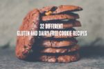 A stack of gluten-free and dairy free chocolate chocolate chip cookies, one of 32 different recipes