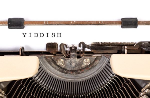 Yiddish, just the word on a typewriter