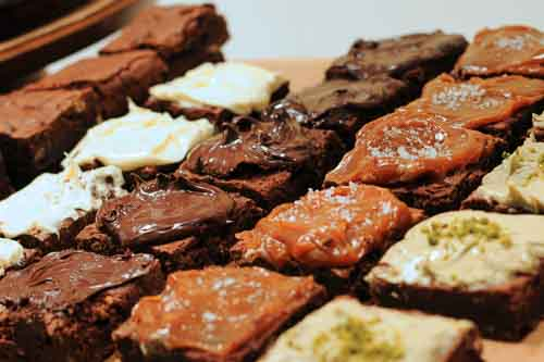 Selection of 18 gluten and dairy free brownies