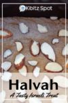 Homemade halva covered with slivered almonds