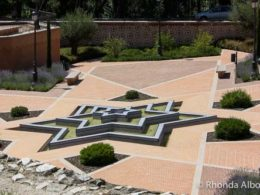 Jewish Spain? A six pointed star shaped fountain stands in Parque de Mohamed I in Madrid