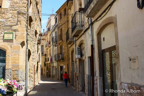 A narrow street in the Old Jewish Quarter of Bisbal D'Emporda in Spain