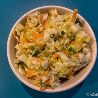 Our dairy free coleslaw ready to eat.