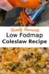 An easy coleslaw recipe that is dairy-free, gluten-free, and low FODMAP