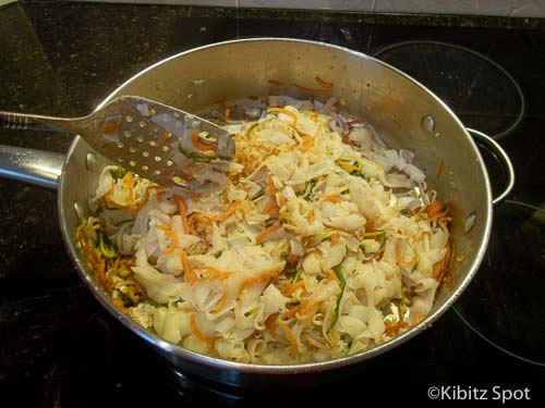 Cooking our healthy pad thai recipe