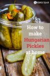Old World Hungarian Pickles in a jar