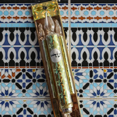 mezuzah outside a Jewish temple in Morocco