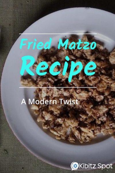 Plate of fried matzo