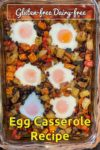 Ready to serve egg casserole still in the baking dish