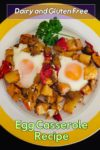 Single serve of egg casserole on a plate