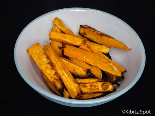 A bowl of paleo sweet potato chips ready to eat