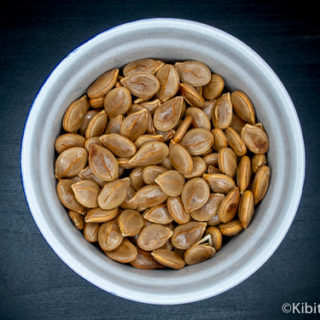 Bowl of pumpkin Seeds ready to eat